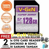 Beli Original V Gen Sd Card Hyper Class10 128Gb 98Mb S Free Otg Card Reader Sdhc Micro Sd Camera Sarung Tangan Seken