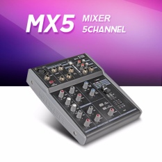 Original Xtuga MX5 5Channels MX8 8Channels MX12 12Channels 3-Band EQ Audio Music Mixer Mixing Console with USB XLR LINE Input 48V Phantom Power for Recording DJ Stage Karaoke - intl