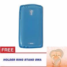 Orion Oppo Joy R1001 Ultrathin Oppo R1001 Softshell Oppo Joy / Softcase Oppo Joy R1001 + Free Ring Stand Motif Swa Random - Biru Transparan