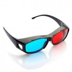 Ormano 3D Glasses Kacamata Kaca Mata 3D Vision Red Cyan Frame Plastik Smart NVidia Anti Pecah Asli Untuk Para Gamers dan Movie Mania Menonton Film Tiga Dimensi Rumah Bioskop