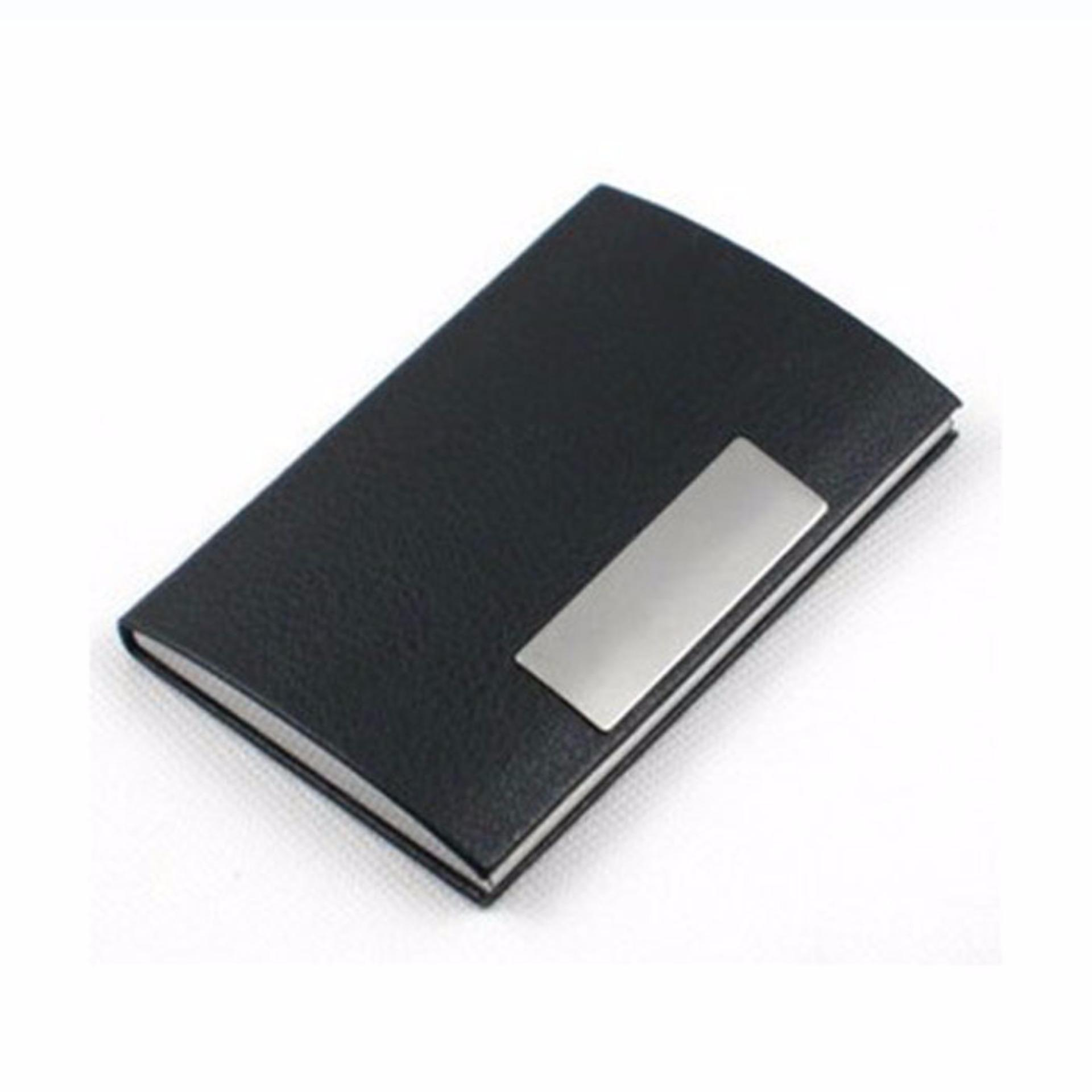 Ormano Dompet Kartu Binder Tempat Atm Kartu Kredit Ktp Business Id Name Card Wallet Water Proof Metal Aluminium Stainless Steel Holder Pocket Case Aksesoris Fashion Pria Wanita Kerja Kantor Anti Air Dan Karat Hitam Original