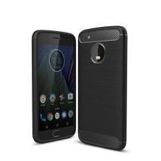 Oscar Menyimpan Ponsel Terbaru Teknologi Kapal Gratis untuk Motorola MOTO G5 PLUS Anti Gulat Serat Karbon Shell Plastik Cover-Intl