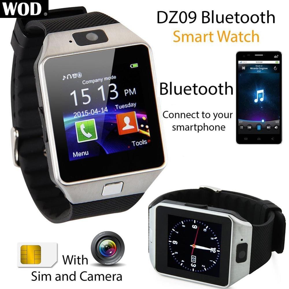 Oscar Toko DZ09 Bluetooth Pintar Pergelangan Tangan Jam Tangan GSM Ponsel Kamera Sim untuk Android Samsung LG-Internasional
