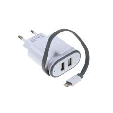 Oscar Toko Mall-5V 2.1A Dual USB Power Charging Charger untuk Ponsel 8 Pin Antarmuka IPhone-Intl