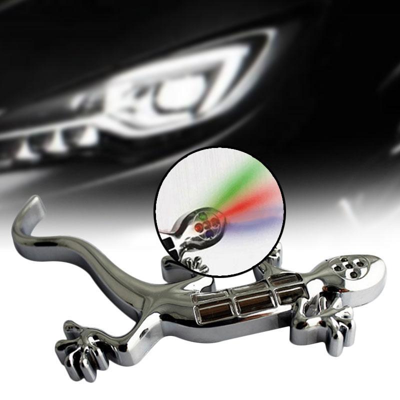 Oscar Toko Lighting Profesional Aksesoris LED Solar Energi Gecko Grafis Fancy Mobil Stiker Oto Brake Lampu Waspada Light-Intl