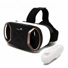 OspreyVR Virtual Reality Headset dengan Remote Nirkabel-3D Virtual Reality Goggles untuk IPhone 8 PLUS Samsung Android Windows- Augmented Reality Cahaya Biru VR Kacamata dengan Ventilasi Panas-Bantal Kulit-Intl