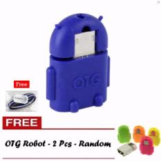 OTG Adapter Micro USB Robot - Buy 1 Get 2 Free + Free 1 Pcs Polkadope Ikat Rambut