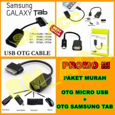 OTG Kabel Samsung Galaxy Tab & OTG Kabel Micro Usb [ Paket Hemat 2pcs ]