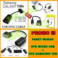 OTG Kabel Samsung Tab & OTG Kabel Micro Usb - High Quality [ Paket Hemat 2pcs ]