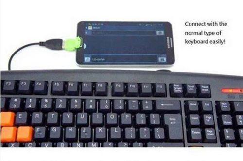 ... OTG USB Adapter Android Merah Muda