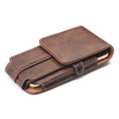 Outdoor Climbing 3 Ukuran Kantong Umum Flip Pocket Leather Pelindung Penutup Ponsel dengan Slot Kartu Buckle untuk IPhone Samsung 5.5 Inch-Intl