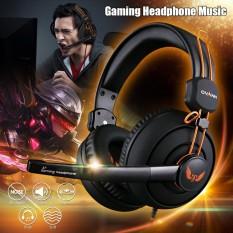 OVANN 3.5mm Gaming Headset Surround Stereo Headband Headphone USB w/Mic For PC Black - intl