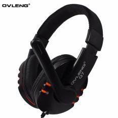 Ovleng USB Headphones Q7 with Mic - Hitam - orange