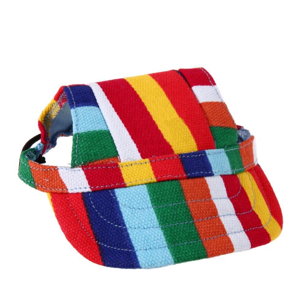 Oxford Kanvas Cute Hewan Peliharaan Anjing Kasual Bisbol Cap Matahari Topi dengan dengan Lubang Telinga (Multicolor) -M-Intl