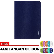 Ozaki Case for Apple Ipad Mini / Ipad Mini 2 Retina Notebook Slim - Blue Dark + Gratis Jam Tangan Sport