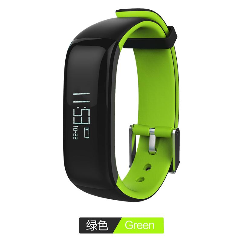 Harga P1 Bluetooth 4 Waterproof Ip67 Smart Wristband Smartband Blood Pressure Monitor Heart Rate Monitor Smart Bracelet Fitness Tracker Smart Band For Android And Ios Green Intl Termurah