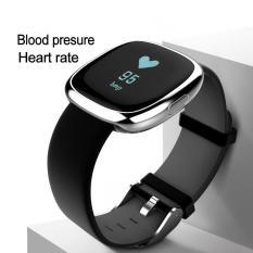 Spesifikasi P2 Bluetooth 4 Gelang Jam Tangan Pintar Heart Rate Tekanan Darah Monitor Air Ip67 Olahraga Kebugaran Tracker Gelang Pintar Untuk Android Dan Ios Perak Dan Hitam Intl Terbaru