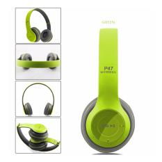 Jual P47 Headphone Wireless Beat Hijau Satu Set