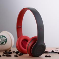 P47 Overhead Nirkabel Bluetooth Earphone Dre Headset Earpods Merah Intl Original