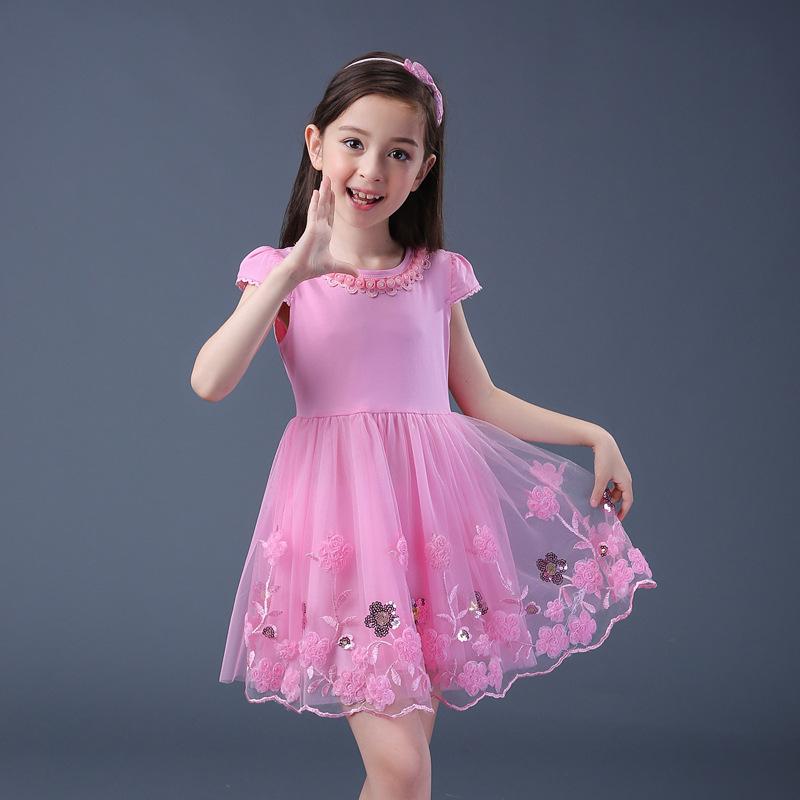 Promo Pada Anak Manis Bunga Rok Gaun Rok Merah Muda