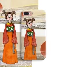 Padang Gurun Iphone8plus/7 Ditambah Imut Gaya Jepang Bermata Siswi Hardcase Selubung Ponsel