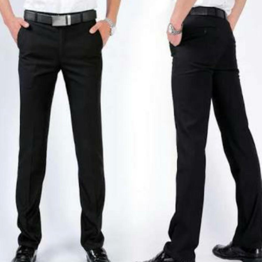 Toko Paganti Store Celana Formal Pria Slimfit Semiwoll Hitam Celana Bahan Formal Pria Slimfit Semiwool Lengkap Di Dki Jakarta