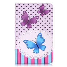 Taoyi Painted tablet computer protection case For Samsung Galaxy Tab A A6 10.1 P580 P585 S-pen Version(Wave point butterfly) - intl