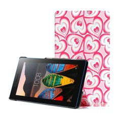 Painting Slim PU Leather + Hard Shell Case [Anti Slip] Pelindung Cover Case untuk Lenovo Tab3-7 710F/ 710I-Intl