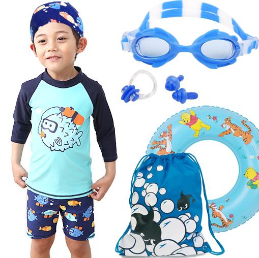 Obral Kecil Anak Laki Laki Anak Laki Laki Anak Anak Pakaian Renang Baju Renang 6088 53 Cermin Biru Telinga Hidung Berenang Lap Untuk Tas Ikan Murah