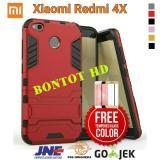 Harga Paket 2 In 1 Xiaomi Redmi 4X 4 X Prime Hardcase Casing Iron Man Slim Case Robot Armor Stand Backcase Terbaik