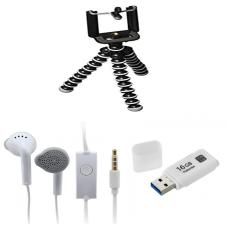 Paket 3 Lebih Hemat Flashdisk Toshiba 16gb+Tripod Mini Gorilla+Handsfree Samsung