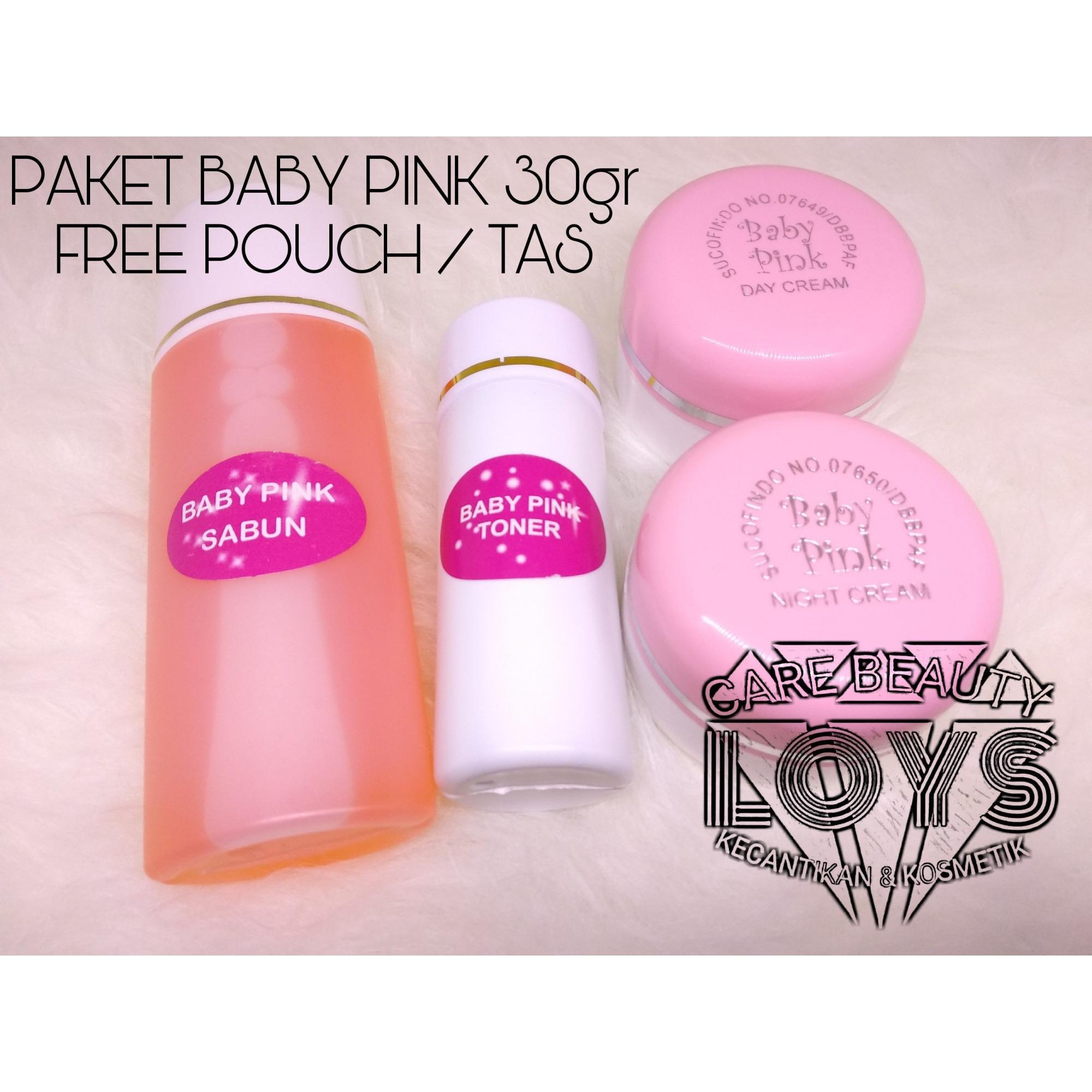 Paket BABY PINK SUCOFINDO ORIGINAL EMBOSS 30gr - Cream Baby Pink Day & Night + Sabun + Toner
