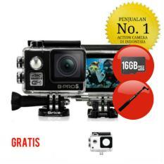 Paket - Brica B-Pro 5 Alpha Edition 1 4K - AE1 4K - Black 2 Inch LCD Garansi Resmi - Memory Card 16GB & Monopod