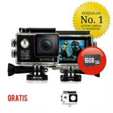 Paket - Brica B-Pro 5 Alpha Edition 4K Mark II - AE2 Black 2 Inch LCD Garansi Resmi + Memory Card 16GB