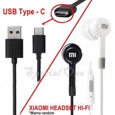 Paket Bundling Headset Hi-fi Jack A.v 3.5mm + Kabel data Xiaomi Type c