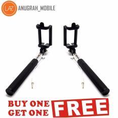 Diskon Produk Paket Buy 1 Get 1 Tongsis Monopod Black Edition Tombol Lipat Selfie Stick Hitam
