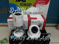 PAKET CCTV HIKVISION 4CHANNEL 2 KAMERA 2.0MP 1080P FULL HD KOMPLIT