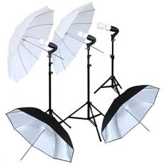 Paket Continous Light 3 Lampu & 4 Umbrella for Foto Studio - Foto Produk - Foto Model