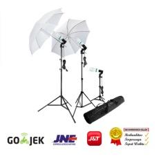 Jual Paket Continous Light 3 Lampu Umbrella For Foto Studio Foto Produk Foto Model Rajawali Murah