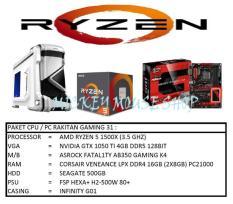 PAKET CPU / PC RAKITAN GAMING 31 /AMD RYZEN 5 1500X (3.5 GHZ)/ RAM 8GB