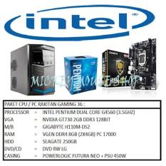 PAKET CPU / PC RAKITAN GAMING 36/INTEL G4560 (3.5GHZ)/RAM 8GB/VGA 2GB