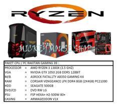PAKET CPU / PC RAKITAN GAMING 39 /AMD RYZEN 3 1300X (3.5 GHZ)/ RAM 8GB