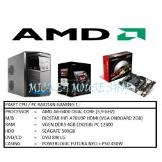 Paket Cpu Rakitan a6 6400 Ram 4gb Hdd 500gb