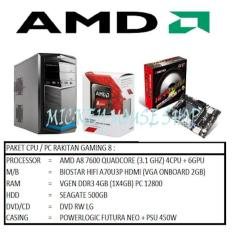 PAKET CPU RAKITAN GAMING 8 /AMD A8-7600 (3.1 GHZ)/ RAM 4GB /HDD 500GB