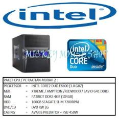 PAKET CPU RAKITAN MURAH 2/CORE2 DUO E8400 (3.0 GHZ)/RAM 4GB/HDD 160GB