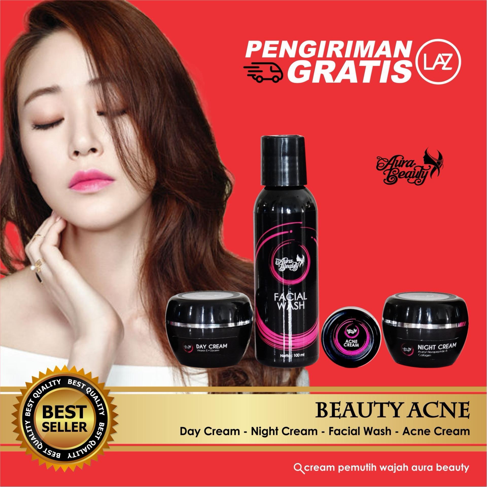 Jual Paket Cream Obat Penghilang Jerawat Cream Penghilang Bekas Jerawat Cream Bopeng Aurabeauty Murah Di Di Yogyakarta