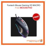 Beli Paket Free Mouse Gaming Fantech X5 Free Mousepad Blank Terbaru
