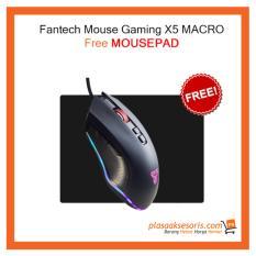 Jual Paket Free Mouse Gaming Fantech X5 Free Mousepad Blank North Sumatra
