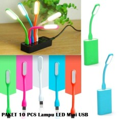 Paket Hemat 10 Pcs Lampu Mini Led Usb Light Powerbank Lampu Baca Lampu Multifungsi - Random By 7star Id.