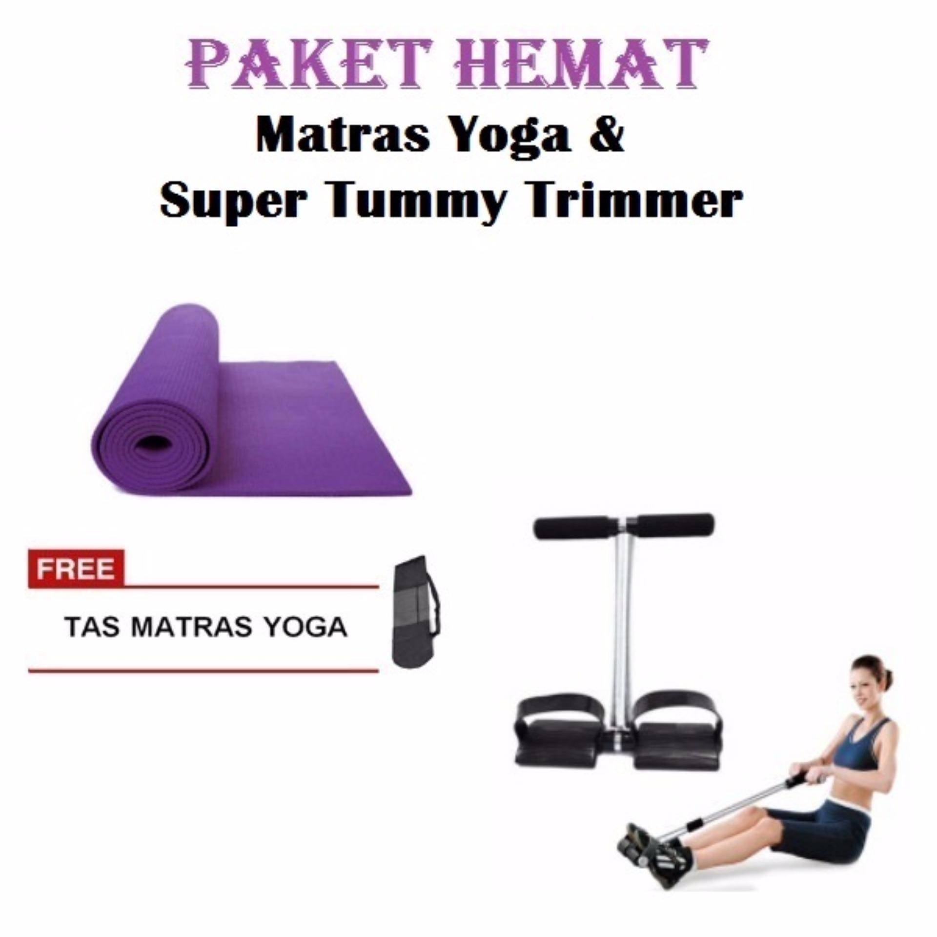 Paket Hemat Matras Yoga tebal 8mm Dan Super Tummy Trimmer Lazada Indonesia .